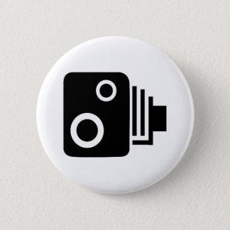 Isolated Speed Camera 6 Cm Round Badge