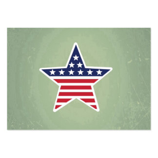 Isolated Star With American Flag Design Business Cards