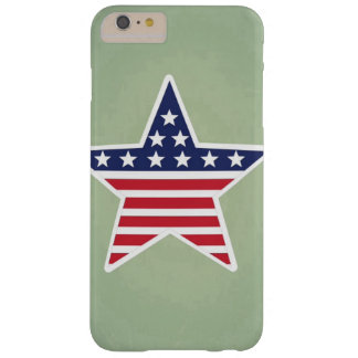 Isolated Star With American Flag Design Barely There iPhone 6 Plus Case
