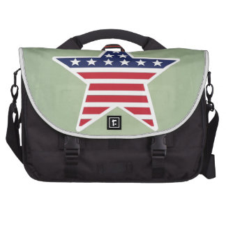 Isolated Star With American Flag Design Commuter Bag