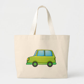 Isolated toy car on white jumbo tote bag