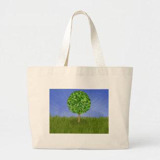 Isolated tree jumbo tote bag