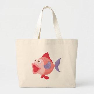Isolated tropical fish on white jumbo tote bag