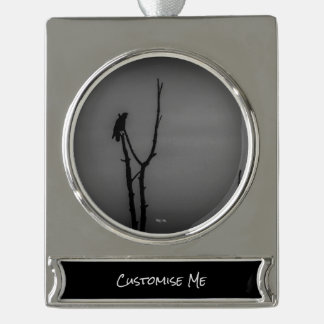 Isolation Silver Plated Banner Ornament