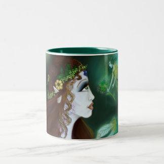 Isolde s Wish Green 11oz Two-Tone Coffee Mug