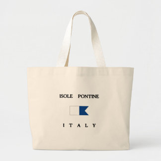 Isole Pontine Italy Alpha Dive Flag Canvas Bags