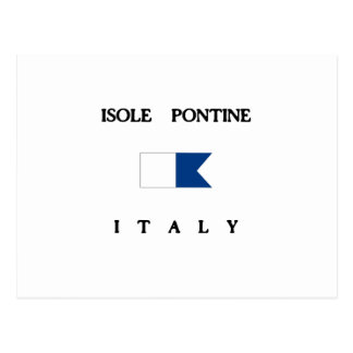 Isole Pontine Italy Alpha Dive Flag Post Cards