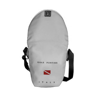 Isole Pontine Italy Scuba Dive Flag Courier Bag