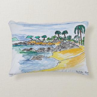 Isolella Beach, Ajaccio | Corsica, France Decorative Cushion