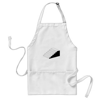 Isometric object stair- architectural 3d object standard apron