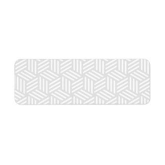 Isometric Weave #e5e5e5 Return Address Label