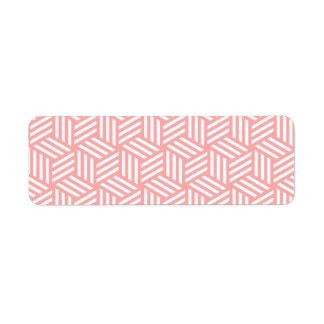 Isometric Weave #FFAAAA Return Address Label