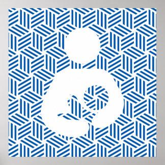 Isometric Weave Nursing / Breastfeeding Symbol Poster