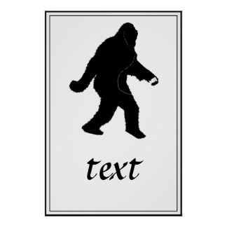 iSquatch Add Background Color Posters