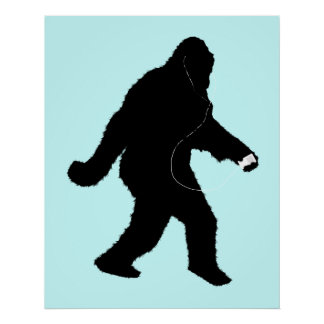 iSquatch Change Background Color Posters