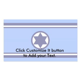 Israel Air Force, Israel flag Pack Of Standard Business Cards