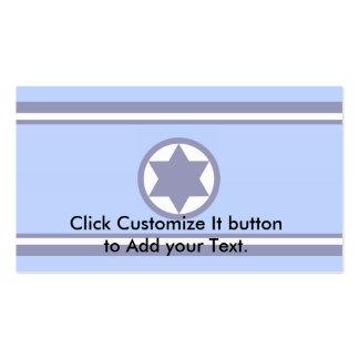 Israel Air Force, Israel flag Pack Of Standard Business Cards