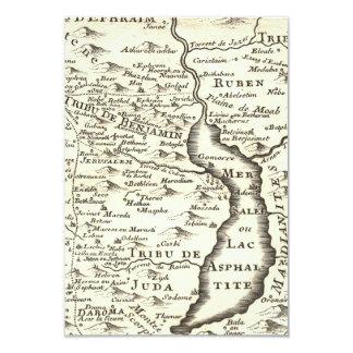 Israel Antique Map Bar Mitzvah RSVP Response 9 Cm X 13 Cm Invitation Card