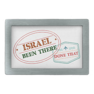 Israel Been There Done That Rectangular Belt Buckle