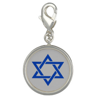 Israel Blue Star of David on Matte Silver