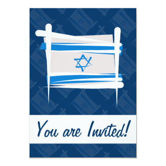 Israel Brush Flag Card