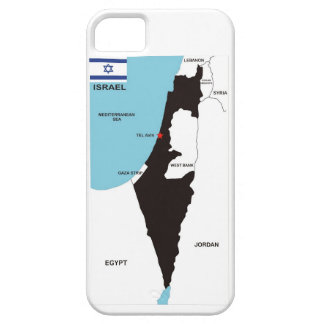 israel country political map flag iPhone 5 case