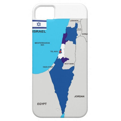 israel country political map flag iPhone 5/5S covers