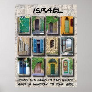 Israel - doors and windows poster