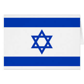 Israel Flag Note Card