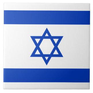 Israel Flag Large Square Tile