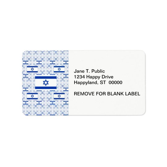 Israel Flag - Star of David -  in Layers Address Label