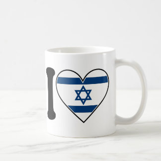 Israel Heart Flag Coffee Mug