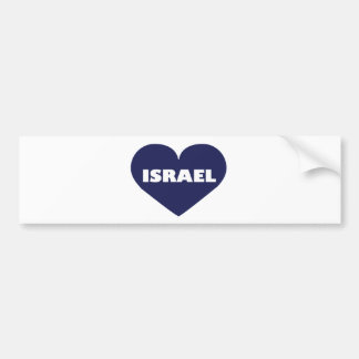 Israel in My Hart Bumper Sticker