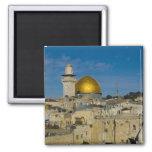 Israel, Jerusalem, Dome of the Rock Square Magnet