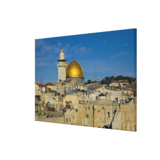 Israel, Jerusalem, Dome of the Rock Stretched Canvas Prints