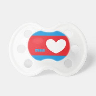 Israel Love Heart Baby Pacifier