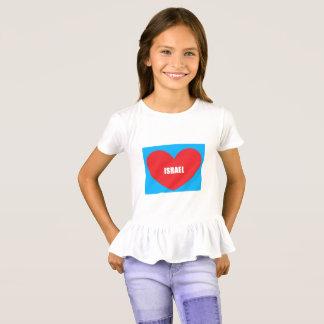 Israel Love Heart Ruffle Shirt