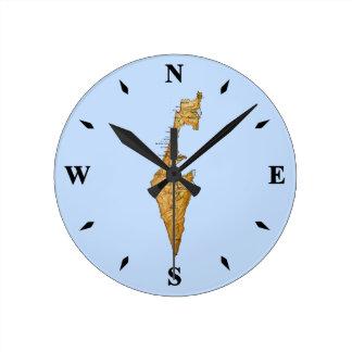Israel Map Clock