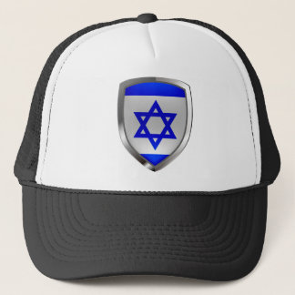Israel Metallic Emblem Trucker Hat