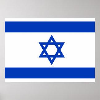 Israel National World Flag Poster