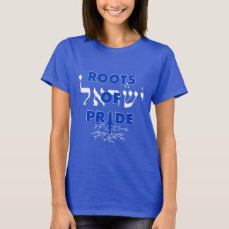 Israel Pride Jewish Roots Of Pride Hebrew Proud T-Shirt