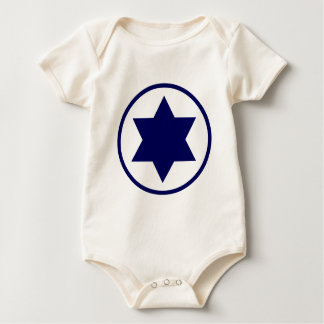 Israel Star of David Baby Bodysuit