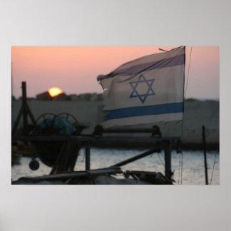Israel Sunset Poster
