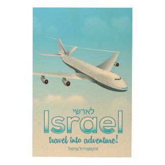 "Israel "" Travel into Adventure"" Wood Wall Art"