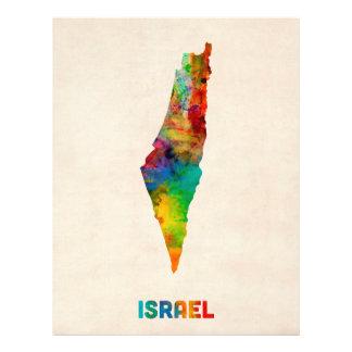 Israel Watercolor Map Custom Flyer