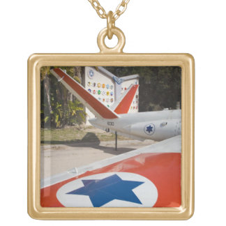 Israeli Air Force Museum Square Pendant Necklace