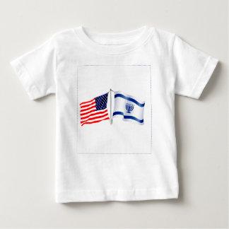 Israeli American flag collection Baby T-Shirt