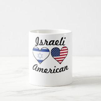 Israeli American Flag Hearts Coffee Mug