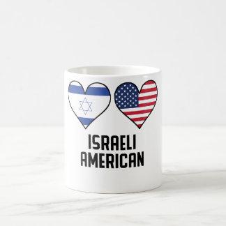 Israeli American Heart Flags Coffee Mug