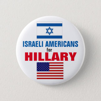 Israeli Americans for Hillary 2016 6 Cm Round Badge
